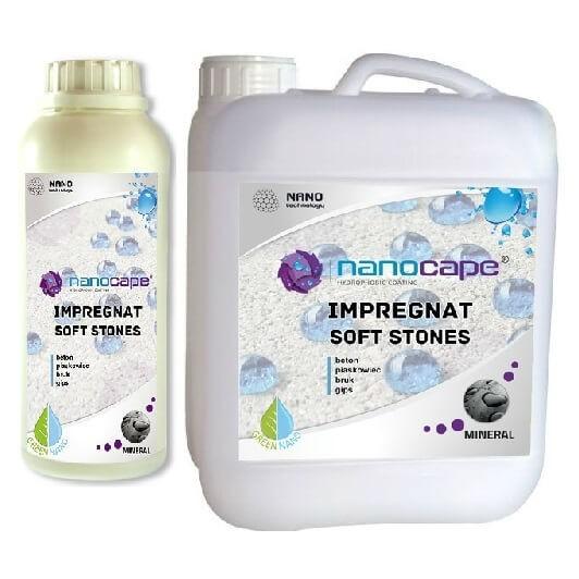 Nanocape Soft Stones impregnat bezbarwny do kostki brukowej, betonu, gipsu, piaskowca.