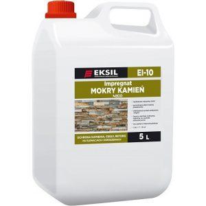 """EKSIL EI-10 to dekoracyjno-ochronny impregnat z efektem """"mokrego kamienia"""""""