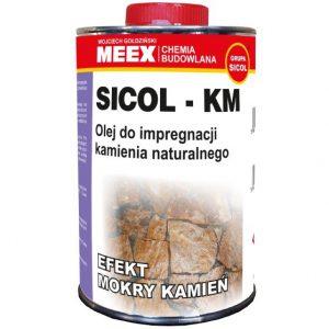 """SICOL–KM olej do impregnacji kamienia naturalnego """"mokry efekt"""""""