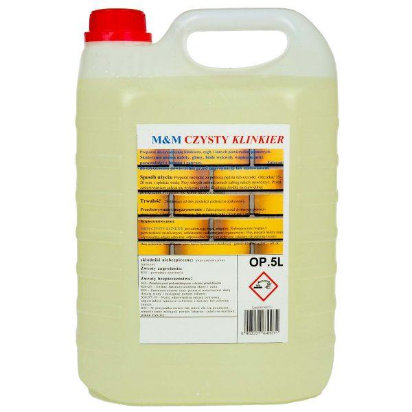 CZYSTY KLINKIER preparat do czyszczenia klinkieru, cegły i innych powierzchni pionowych